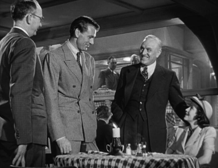 Lou Gehrig (Gary Cooper) meets his future wife, Eleanor (Teresa Wright).
