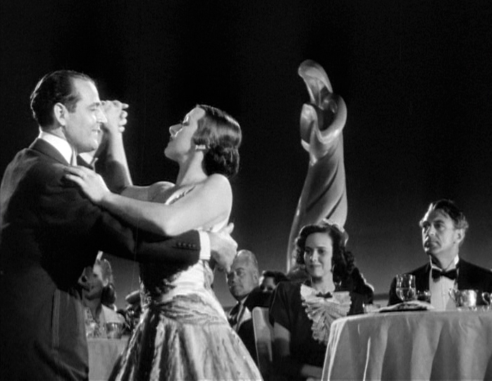Veloz and Yolanda dance as Eleanor (Teresa Wright) and Lou Gehrig (Gary Cooper) enjoy the performance.
