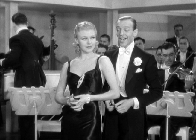 Fred Astaire serenades Ginger Rogers in Roberta