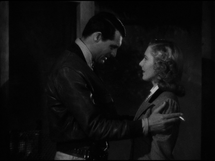 Cary Grant, Jean Arthur debate her future in Only Angels Have Wings