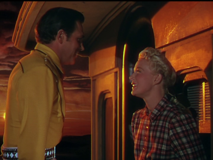 "Howard Keel and Betty Hutton star as Annie Oakley in ""Annie Get Your Gun."""