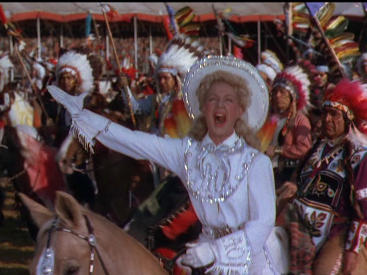 "Betty Hutton stars as Annie Oakley in ""Annie Get Your Gun."""