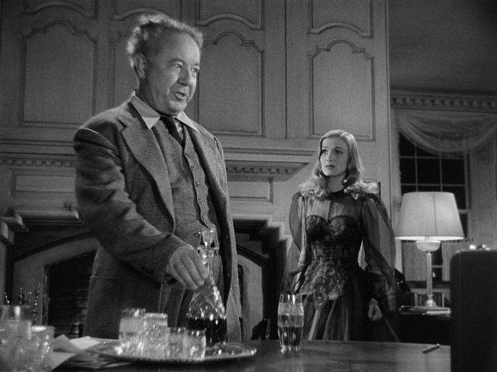 "Cecil Kellaway, Veronica Lake in ""I Married a Witch."""