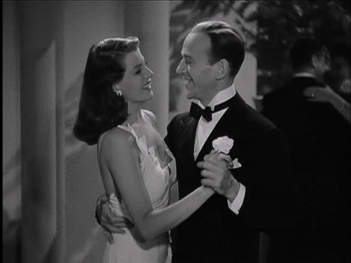 """Rita Hayworth and Fred Astaire waltz in """"You'll Never Get Rich."""""""