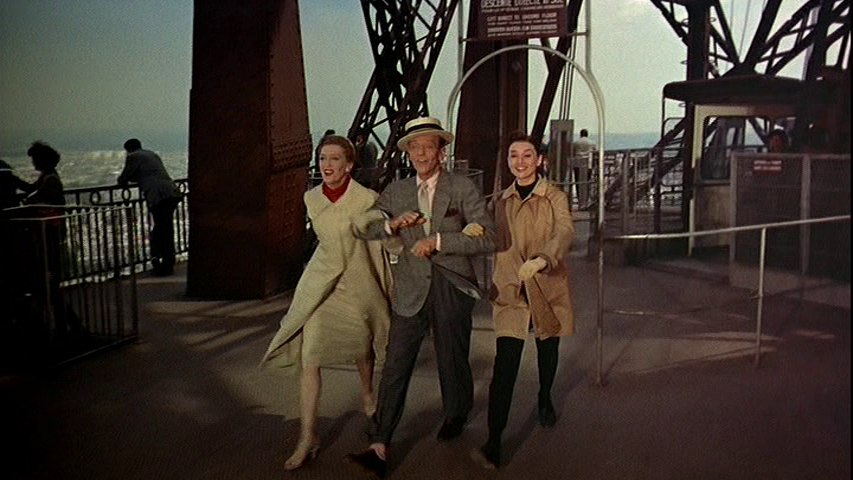 Kay Thompson, Fred Astaire, Audrey Hepburn explore Paris and the Eiffel Tower